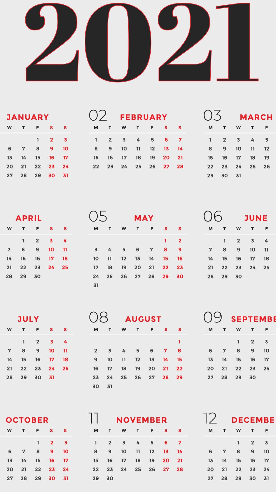 2021 Calendar Wallpaper Grey And Red Wallpaper For You