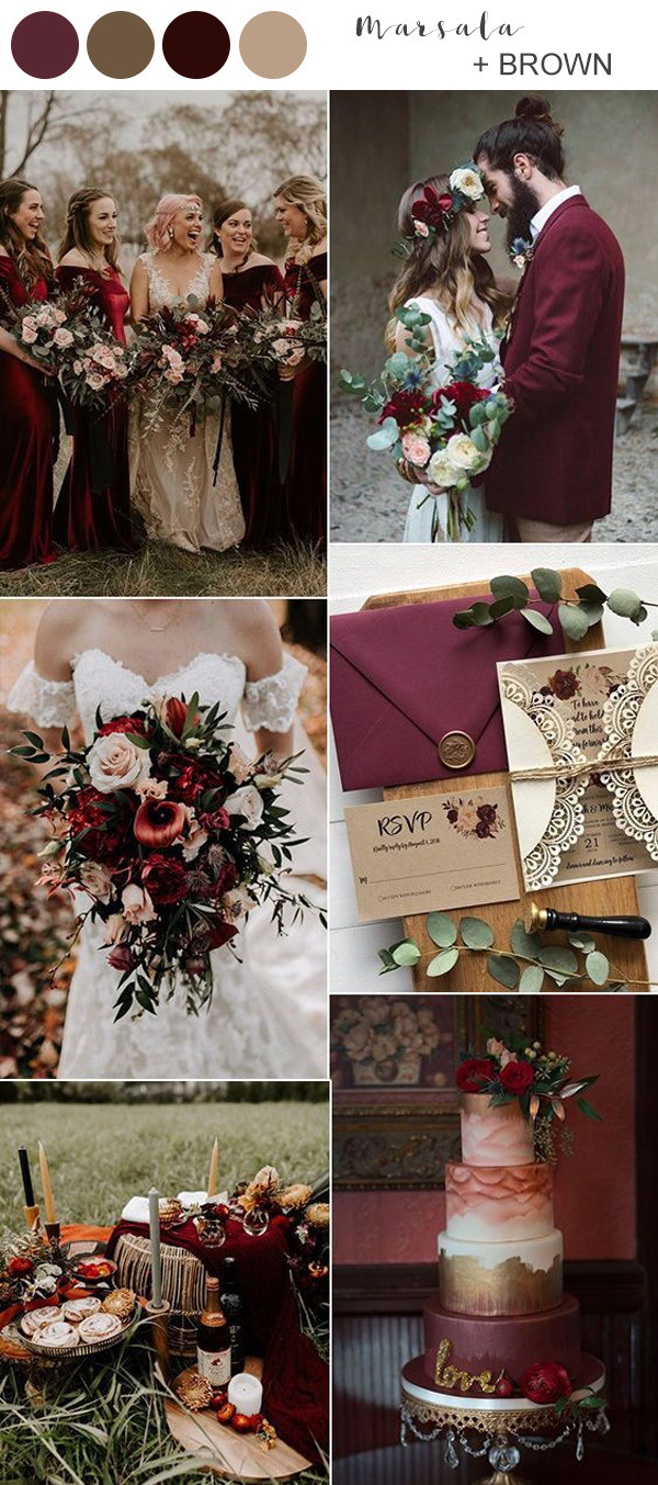 Best Fall Wedding Colors For 2021 You ll Fall In Love With