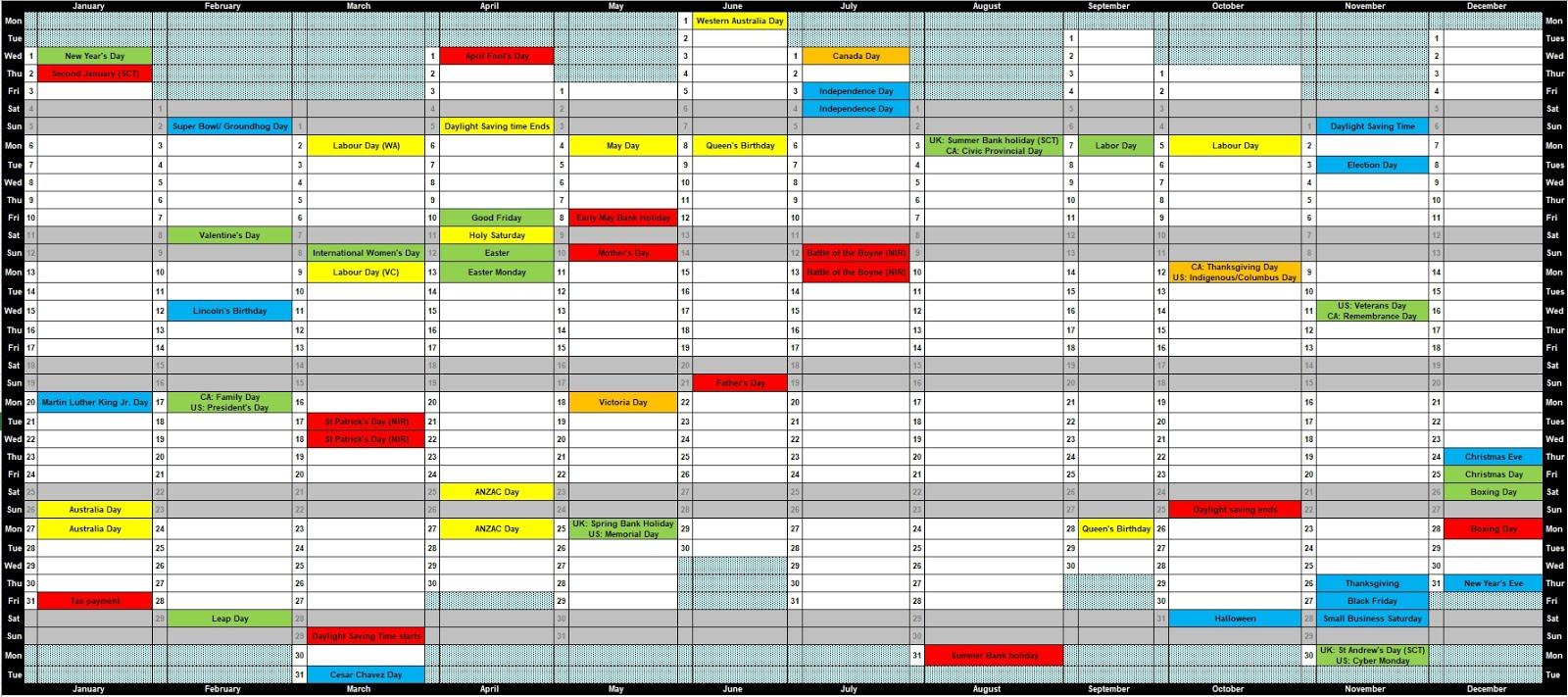 Do You Need A Yearly Planner In Excel Looking For