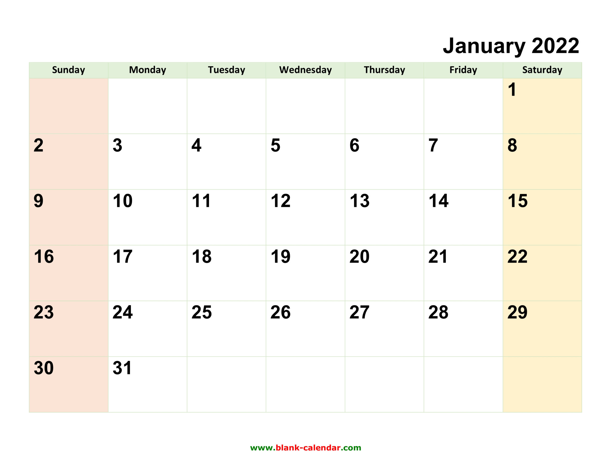 Monthly Calendar 2022 Free Download Editable And Printable