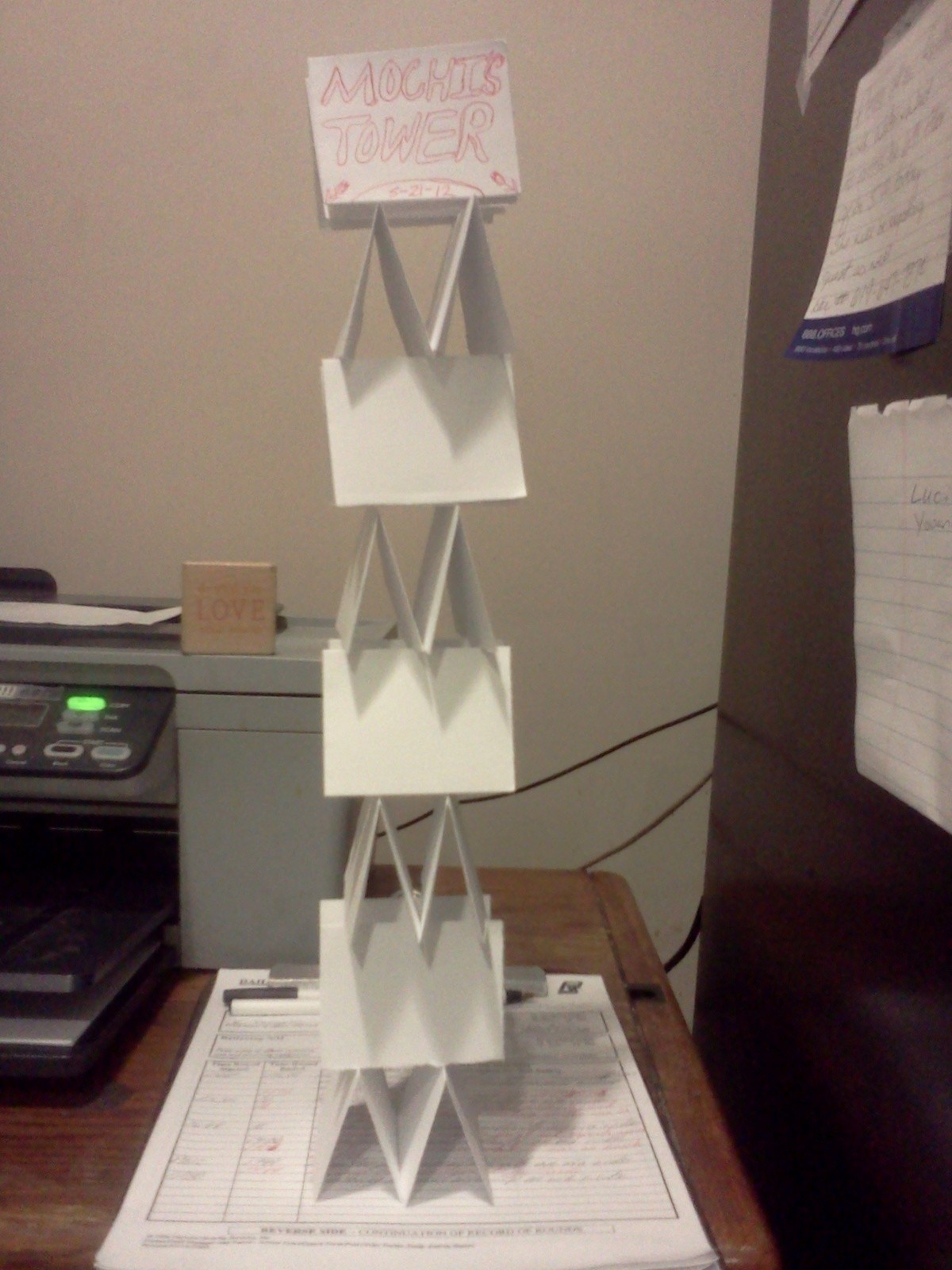 Paper Tower A Papercraft Paper Folding On Cut Out